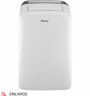 Hisense CAP 10CR1SEJS 10,000 BTU Portable Air Conditioner With Electronic  Controls, Remote Control And