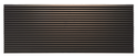 LG AYAGALB01A Architectural Louvered Aluminum Exterior Grille, Dark Bronze designed for use with an LG Wall Sleeve