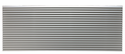 LG AYAGALC01A Architectural Louvered Aluminum Exterior Grille, Soft Dove designed for use with an LG Wall Sleeve