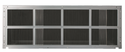 LG AYRGALA01 Stamped Aluminum Exterior Grille designed for use with an LG Wall Sleeve