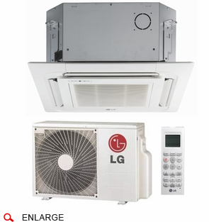 LG LC097HV4 Ceiling Cassette Single Zone Ductless Mini Split with