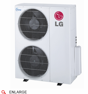 LG LMU36CHV 36,000 BTU Outdoor Condenser with Inverter Heat Pump, Energy Star Rated, De-Frosting De-Icing Capabilities, Self Diagnosis, Auto Restart and Operates down to -4 Degrees Fahrenheit