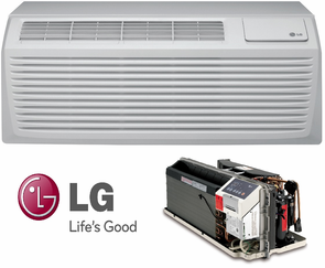LG LP123HDUC1 PTAC Air Conditioner with Heat Pump, 12,200 BTU'S, 230/208 Volt, EER Rating of 11.9, GoldFin Protection, Power Cords, Wall Sleeves and Grilles Needed for New Installations Sold Separately