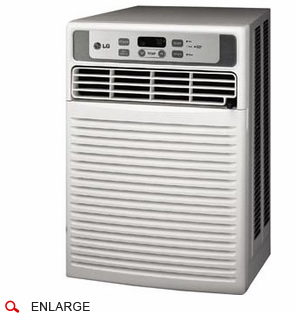 LG LW1013CR 10,000 BTU Slider Casement Window Air Conditioner, 115 Volt, EER Rating 9.5, Electronic Control with Remote Control and Window Installation Kit Included