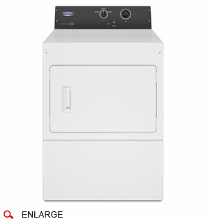 Maytag MDE20MNAYW Electric Single Dryer, Non Coin, 240 Volt, 60 Cycle, Mechanical Timer, Usually Built to Order, If Built 4-Week Lead Time