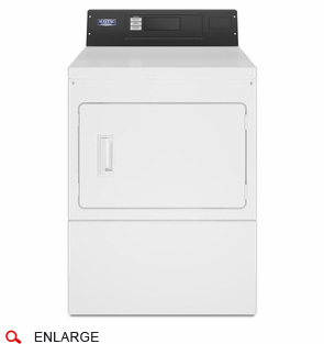 Maytag MDE20PRAYW Electric Single Dryer, 240 Volt, 60 Cycle, Micro-Processor, Card Reader Ready (Not Included), Usually Built to Order, If Built 4-Week Lead Time