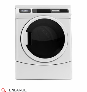 Maytag MDE28PRCYW Commercial Front Load Electric Dryer w/Window, Prep for Card Reader, Super-Capacity, Microprocessor, 240V/60Hz/30A, Usually Built to Order, If Built 4-Week Lead Time
