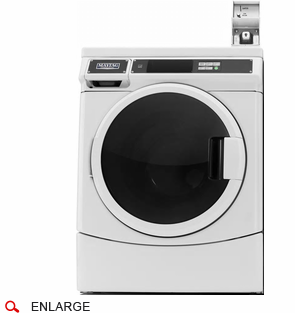 Maytag MHN33PDCWW Commercial Front Load Washer, Coin Drop Included, Energy Star Qualified, 120 Volt/60Hz, Usually Built to Order, If Built 4-Week Lead Time