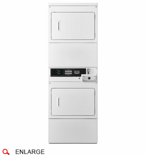 Maytag MLE26PDBYW Commercial Stacked Electric Dryers, Coin Drop Included, Single Load, Super Capacity, 240V/60Hz/30A, Usually Built to Order, If Built 4-Week Lead Time