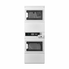 Maytag MLE27PDBYW Commercial Stacked Electric Dryers, Coin Drop Included, With Windows, Super Capacity, 240V/60Hz/30A, Usually Built to Order, If Built 4-Week Lead Time