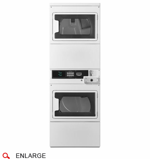 Maytag MLG27PDBWW Commercial Stacked Gas Dryers w/Window Doors, Coin Drop Included, Super Capacity, 120V/60Hz/15A, Usually Built to Order, If Built 4-Week Lead Time