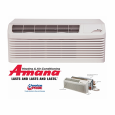 Amana PTC123G25CXXX PTAC Air Conditioner with Electric Heat, 11,700 BTU, 230/208 Volt, EER Rating 10.4, 15 Amp, Seacoast Protected, Special Order (4-6 Weeks), Wall Sleeves and Grilles Needed for New Installations Sold Separately