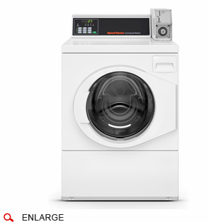 Speed Queen SFNNCRSP113TW02 Commercial Frontload Washer, Coin Drop Included, High Capacity, Coin Box Sold Separately, 120 Volt/60Hz, Usually Built to Order, If not Built 4-Week Lead Time