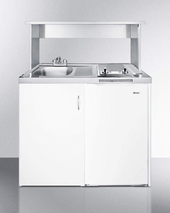 Summit c39autoglass 39 wide all in one kitchen with glass cooktop summit c39autoglass 39 wide all in one kitchen with glass cooktop and auto defrost refrigerator freezer cool running air conditioners more workwithnaturefo