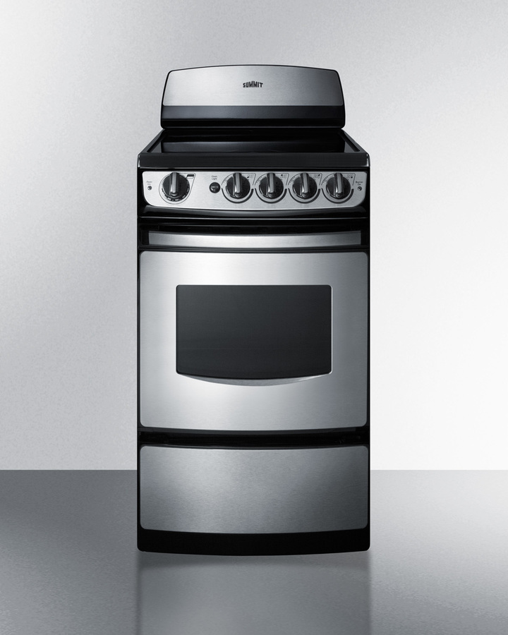 SUMMIT REX207SS 20 inch smooth top electric range, Cool Running Air ...
