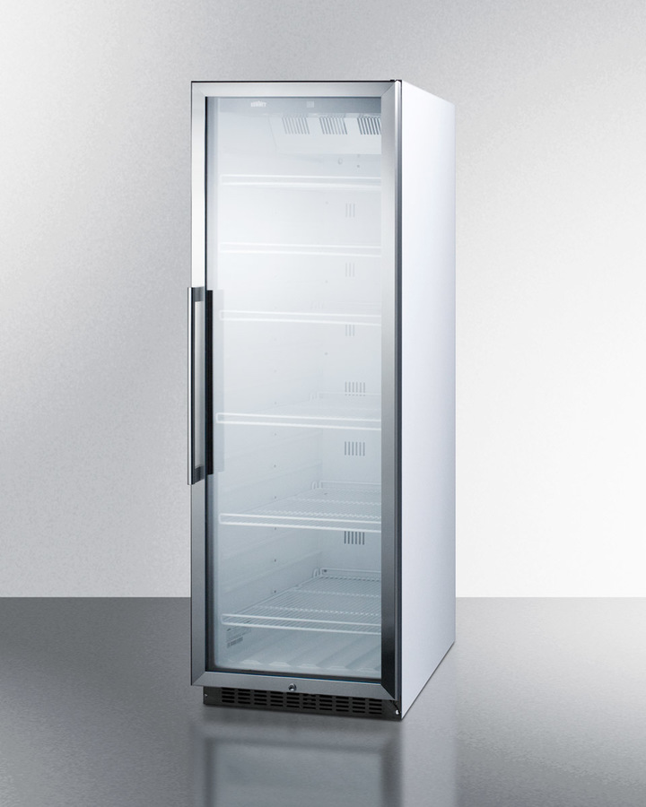 Summit Commercial Scr1400w Full Sized Glass Door Beverage Merchandiser Cool Running Air Conditioners More