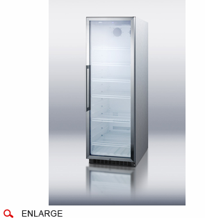 Summit Scr1400wcss Commercial Glass Door Beverage