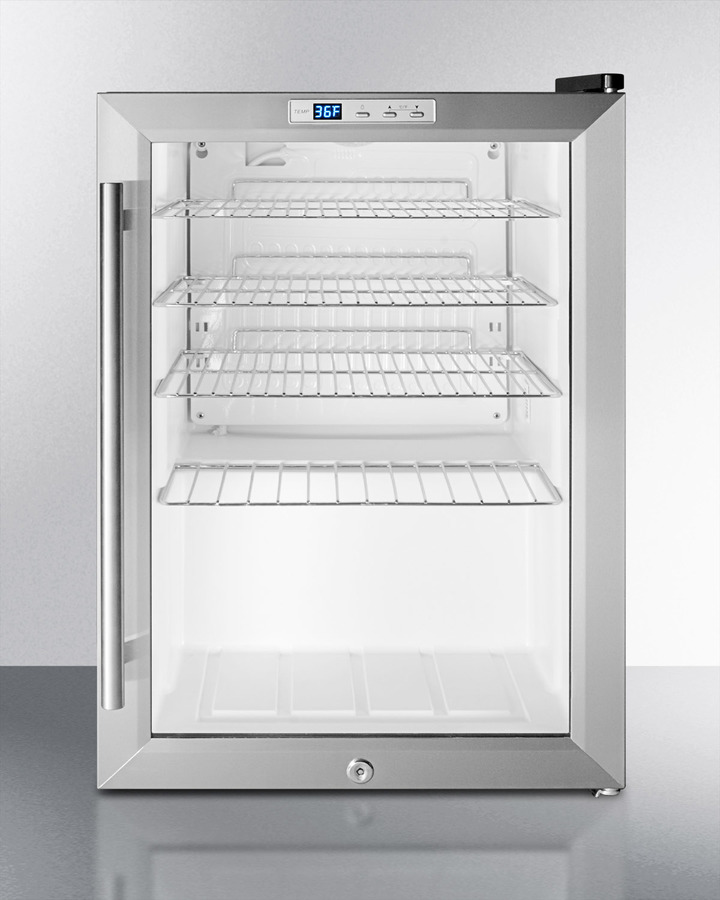 Summit Commercial Scr312l Compact Commercial Glass Door Beverage