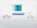 TopTech TT-N-411 PTAC Digital Non-Programmable Wall Thermostat, Heat Cool Units Only