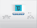TopTech TT-N-421 PTAC Digital Non-Programmable Wall Thermostat, Heat Pump Units Only