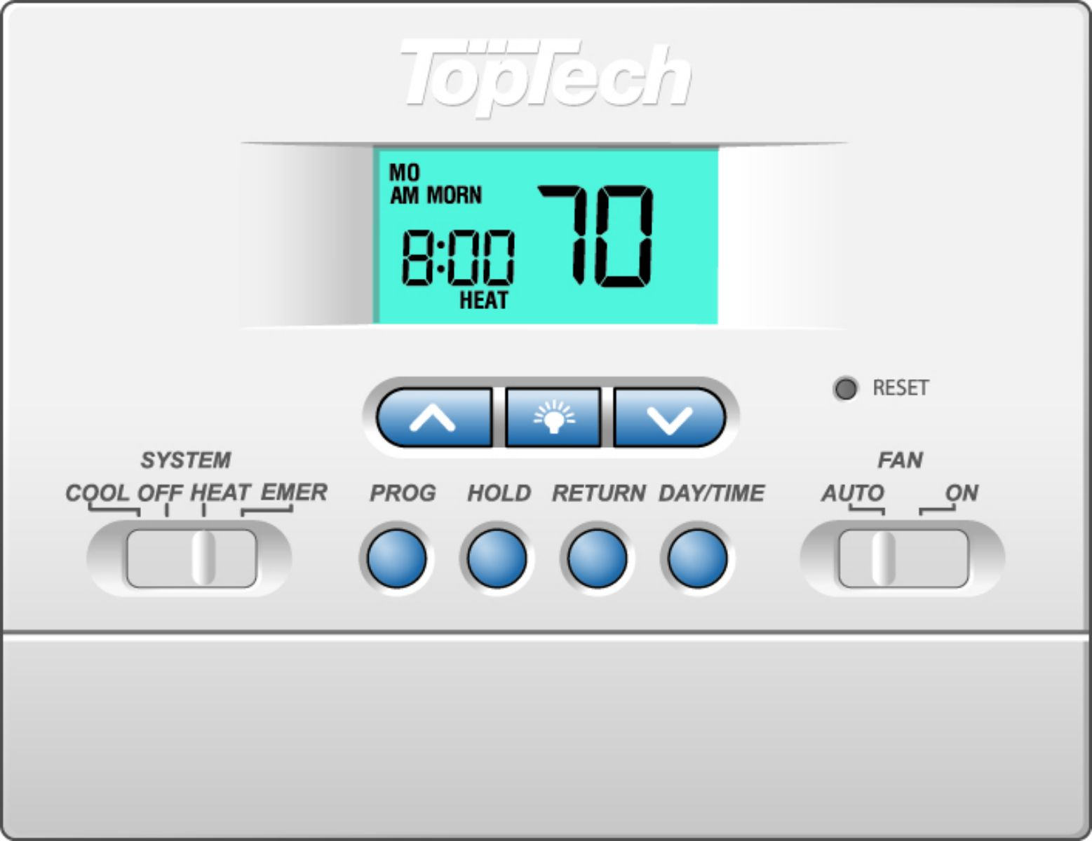 Toptech Thermostat Wireless Base Module Wire Center