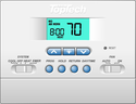 TopTech TT-P-421 Digital Wall Mounted Thermostat Multi-Stage, 2 Heat, 1 Cool, Conventional or Heat Pump, 5/2 programmable