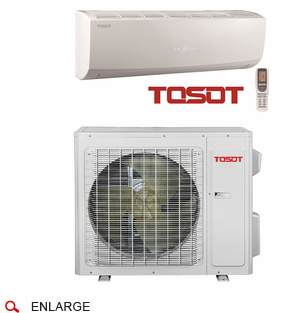 TOSOT TW24HQ2C2D Ductless Mini Split w/ Inverter Heat Pump, 22,000 BTU, Energy Star, SEER 20.0, 208/230 Volt, -4 Degrees Capability, Single Zone Includes Indoor Wall Unit and Outdoor Condenser, Line Sets Sold Separately