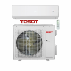 TOSOT TWH12ACD-D3DNA1A Ductless Mini Split w/ Inverter Heat Pump, 12,000 BTU, Energy Star, SEER 30.5, 208/230 Volt, -22F Degrees Capability, Single Zone Includes Indoor Wall Unit and Outdoor Condenser, Line Sets Sold Separately