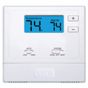 VIVE TP-N-631 PTAC Digital Thermostat, 1 Heat, 1 Cool Conventional  2 Heat, 1 Cool Heat Pump  Battery or Hardwire  Non-Programmable