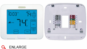 VIVE TP-S-955C Universal Digital Residential or Commercial Thermostat with Touchscreen, 2 Heat, 2 Cool Conventional, 3 Heat, 2 Cool Heat Pump, Battery or Hardwire, 7-Day, 5/1/1 or Non-programmable