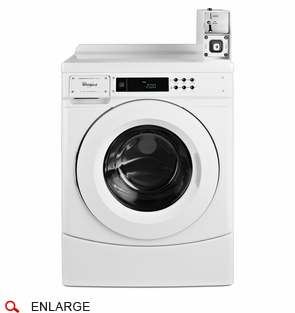 Whirlpool CHW9150GW Front Load Washer, Coin Drop Installed, Micro Processor, Front Controls, Usually Built to Order, If Built 4-Week Lead Time