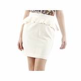 Aaron Ashe Wool Small Skirt - Cream