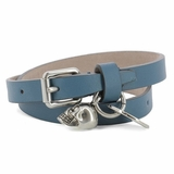 Alexander McQueen Leather Bracelet - Blue