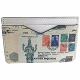 Alexander McQueen Letters From India Card Holder - White