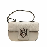 Alexander McQueen Python Print Leather Bag - White