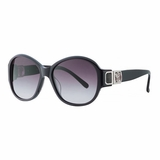Authentic Chloe 2241 C01 Horn Grey Gradient Sunglasses with Case - Black