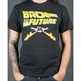 Back Future Graphic Tee - Black