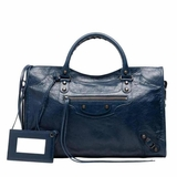Balenciaga Classic City Leather Tote - Blue