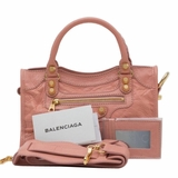 Balenciaga Giant 12 Mini City Leather Tote - Rose