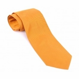 Balenciaga Textured Silk Tie - Orange