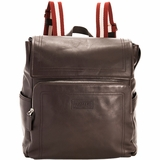 Bally Trainspotting Leather Backpack - Brown
