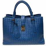 Bottega Veneta Braided Leather Satchel - Blue