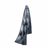 Burberry Ombre Check Silk Scarf - Blue