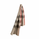 Burberry Check Silk Scarf - Stone