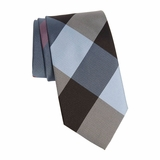 Burberry Clinton check silk necktie - Powder Blue