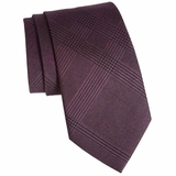 Burberry Clinton Glen Check Tie - Purple