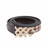 Burberry Haymarket 20MM Pembroke Belt - Chocolate