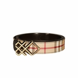 Burberry Haymarket 30mm Pembroke Belt - Black