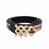 Burberry Haymarket Colours 20MM Pembroke Belt - Black