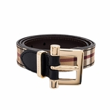 Burberry Haymarket Colours Dells 25mm Belt - Black